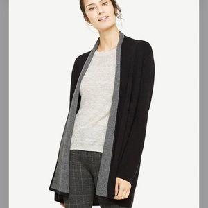 Ann Taylor shawl collar coatigan